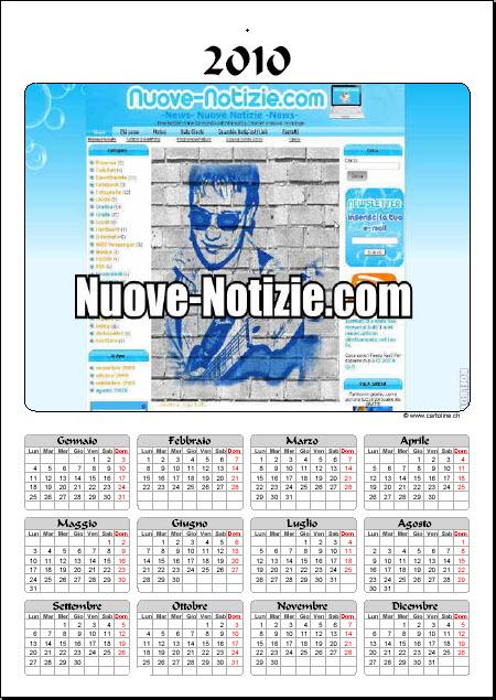 Cartoline Ch Calendario.Crea Il Tuo Calendario 2010 Online Nuove Notizie Ultime