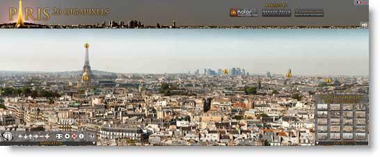 Foto panoramica parigi Fotografia panoramica navigabile di Parigi  in 26 GigaPixel
