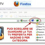 Guarda la Tv Online in Streaming con Firefox
