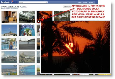 facebook photozoom Facebook PhotoZoom per ingrandire le foto degli album al passaggio del mouse