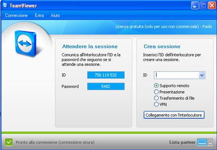 TeamViewer3 Controllare in remoto un altro computer con TeamViewer