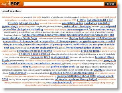 Avidpdf: nuovo motore di ricerca per e-book in Pdf