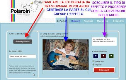 Creare Polaroid Online dalle tue Fotografie