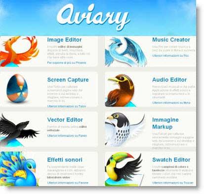 Aviary: suite online per modificare immagini, audio e creare la tua musica