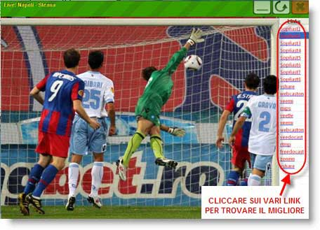 SportPlayer: per guardare gratis le partite di calcio online Calcio-gratis