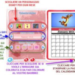 Crea calendario Disney 2011 per bambini da colorare