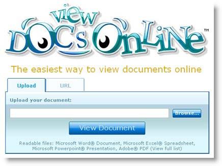 Lettore di documenti online, per aprirli anche se non avete il programma sul vostro Pc Documentionline