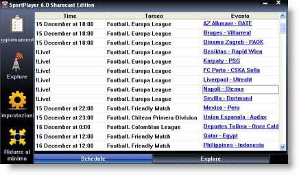 SportPlayer: per guardare gratis le partite di calcio online