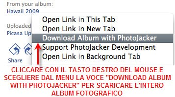 photojacker2 Photojacker: Add on Firefox per scaricare interi album fotografici di Facebook