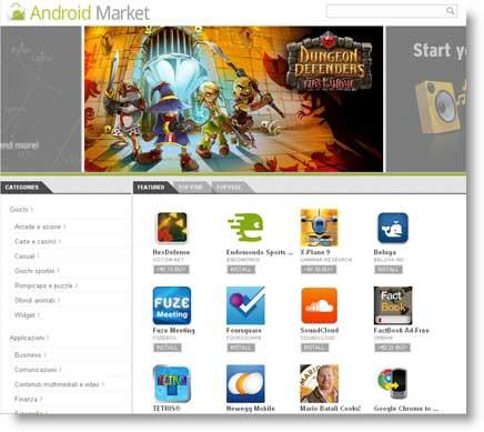 Android Market online.. Google non sbaglia un colpo
