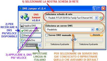 Dns Jumper: aumenta la velocità della tua connessione ADSL cambiando i DNS