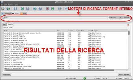 qbittorrent ricerca file torrent