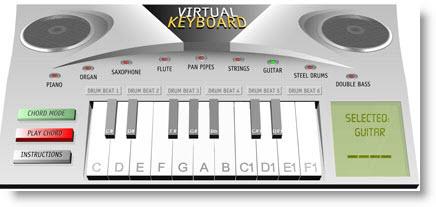 Suona la tastiera online con Virtual Keyboard