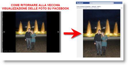 Visualizzare le foto di facebook come prima senza bordo nero
