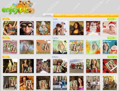 Enjoypic: fotomontaggi cornici e cartoline online