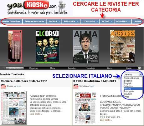 youkioske riviste italiane gratis