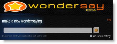 Wondersay: crea messaggi con scritte animate