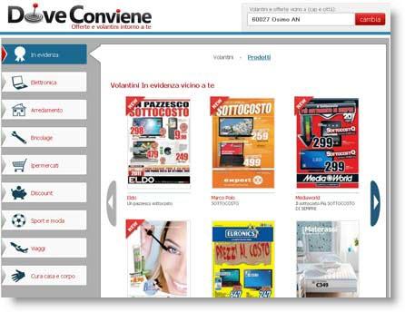 doveconviene Doveconviene: consulta i volantini delle offerte e dei sottocosto direttamente online