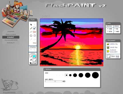 FlashPaint: dipingi e crea opere d'arte online