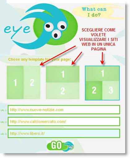 Eyeooo: come navigare 3 siti web in un unica pagina