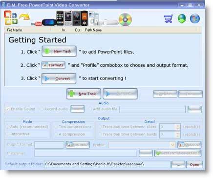 PowerPoint Video Converter: da presentazione pps a filmato video