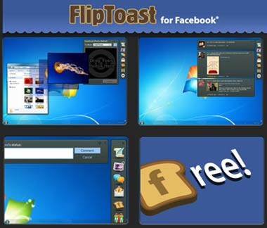 FlipToast: gestire Facebook dal vostro desktop
