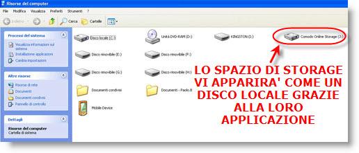 ComodoOnlineStorage Comodo Online Storage: Disco Remoto Gratis di 5 Gb