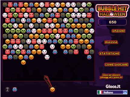 Halloween BubbleHit Halloween: Tetra versione del Gioco Bubble Hit