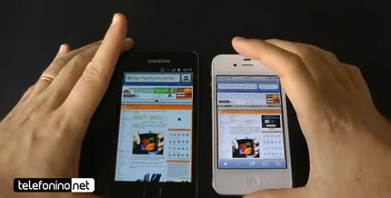 Iphone4svsGalaxys2 Apple Iphone 4s contro Samsung Galaxy s2 qualè il miglior Smartphone?