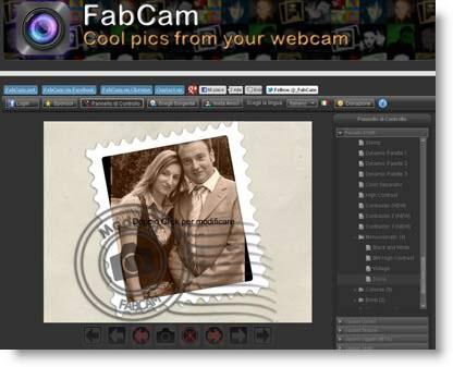 fabcam Effetti su Foto e Webcam con FabCam