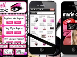 La bellezza con le applicazioni per gli smartphone