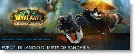 Mists of Pandaria, il 24 settembre evento di lancio digitale