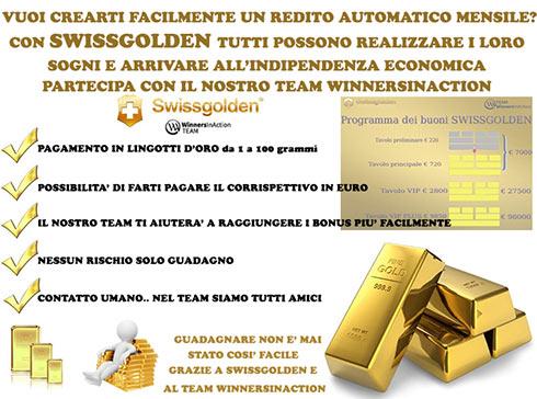 Swissgolden: guadagnare oro vero non è mai stato così facile