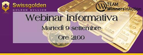 Swissgolden: webinar informativo