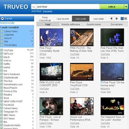 Video news, motore di ricerca per video