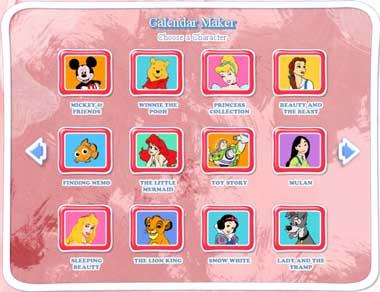 Calendario Disney 2011