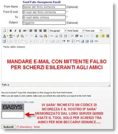 Anonymailer: crea scherzi ai tuoi amici scrivendo e-mail con falso mittente