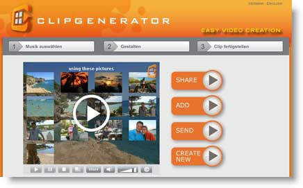 Clipgenerator: crea un video online dalle tue fotografie