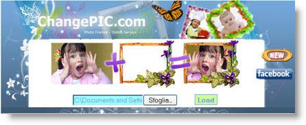 Changepic: crea cartoline con le tue fotografie mettendo cornici, testo e clipart