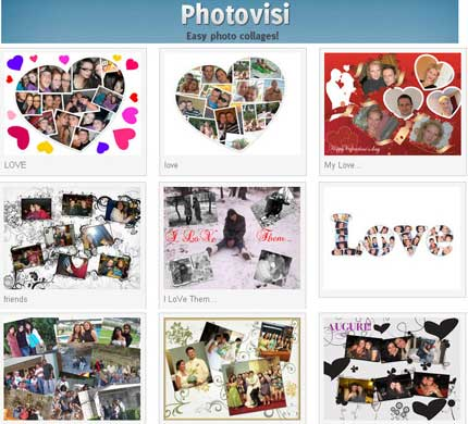 Photovisi: crea stupedi collage di foto online