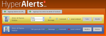 hyperalerts seguire via e-mail le pagine Facebook