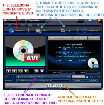 Convertire da DVD a DIVX in un click
