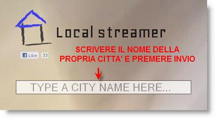 local streamer crea un sito della tua città