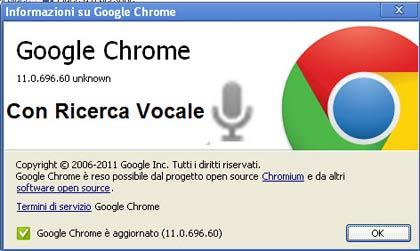 News: uscito Chrome 11 con riconoscimento vocale