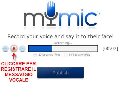 mymic per inviare messaggi vocali su Facebook
