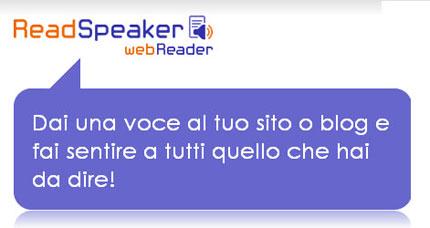 Read Speaker: fai parlare il tuo sito ad alta voce
