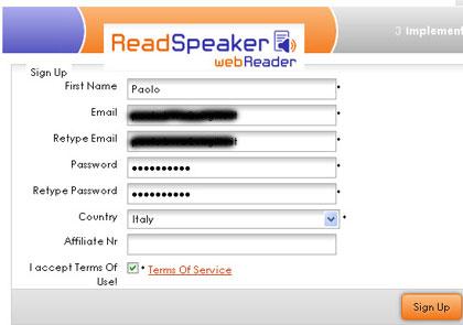 readspeaker fa parlare il tuo blog