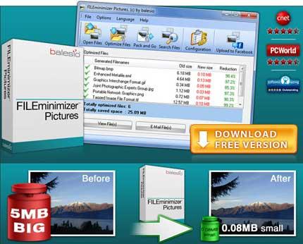 FILEminimizer Pictures per ridurre la dimensione delle foto senza perdere in qualità