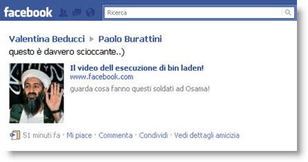Facebook: attenzione al finto video dell'esecuzione di Bin Laden