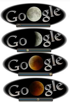 Eclissi di Luna: Google gli dedica il logo